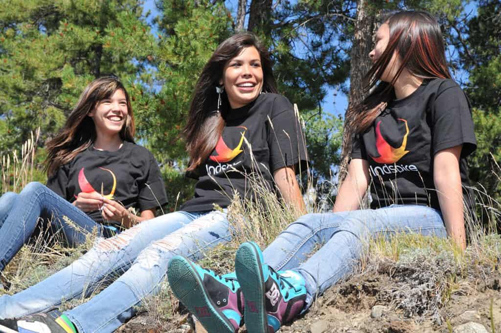 Indspire - Three girls outdoors