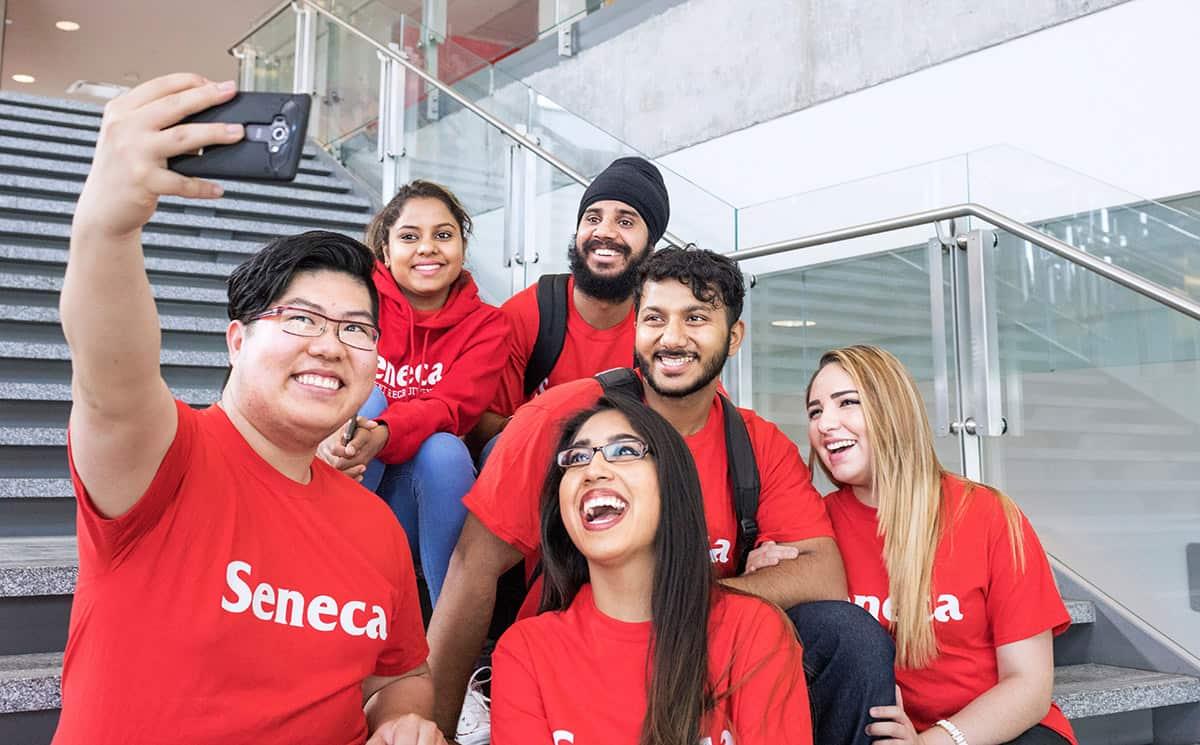 Students at Seneca College