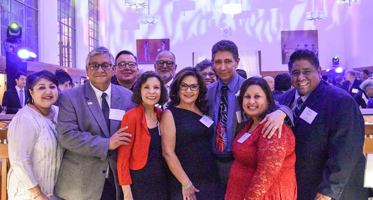 UC Davis Chicanx-Latinx Alumni Association (CLAA) members gathered at the 2020 Alumni Awards